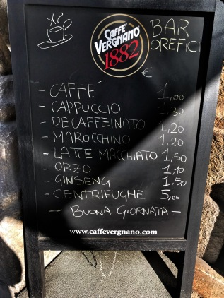 Bar Orefici's prices