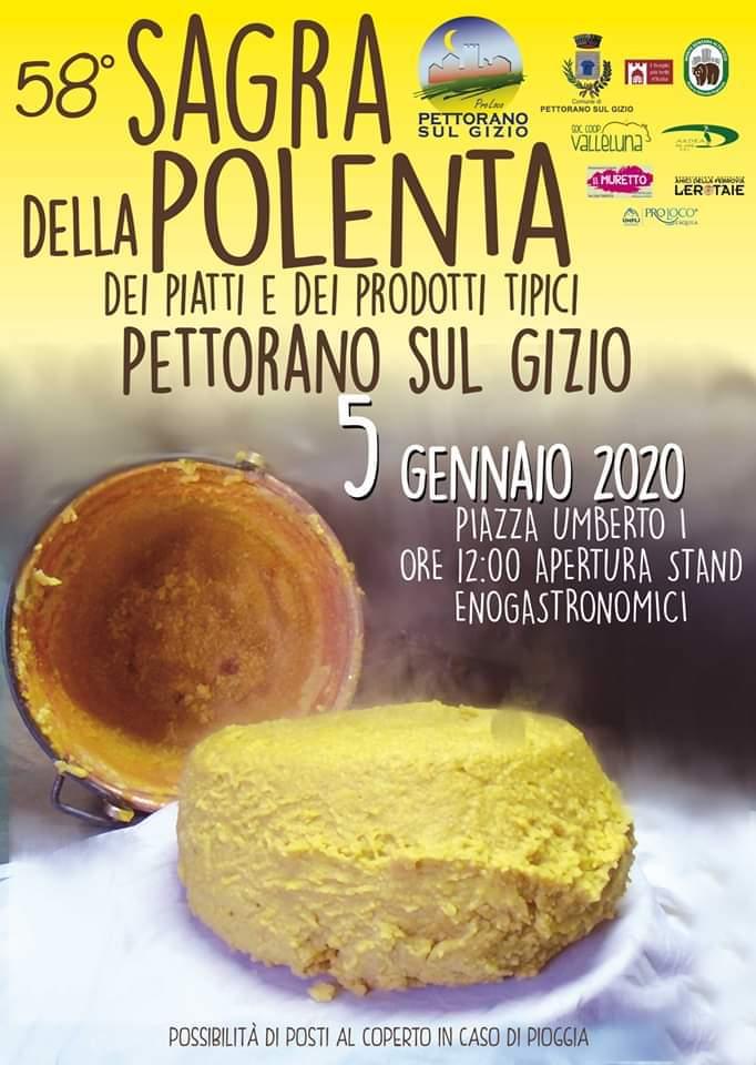 Poster announcing polenta festival on january 5