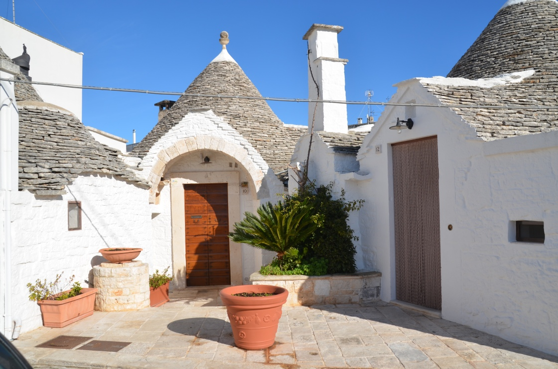 White trulli in the sun