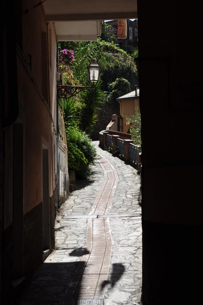 a narrow walkway